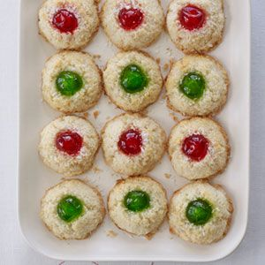 Cherry-Topped-Coconut-Macaroons-Recipe
