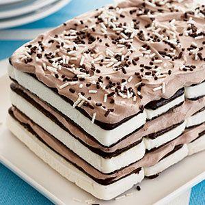 3 Ingredient Ice Cream Sandwich Cake