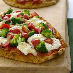 Broccoli-Tomato-Pizzas-Recipe