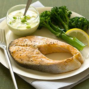 Salmon-with-Curry-Yogurt-Sauce-Recipe