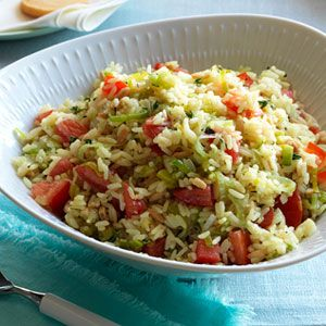Rice-Pilaf-with-Leeks-Tomatoes-Recipe