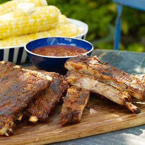 4th of July menu - BBQ Ribs with Mopping Sauce