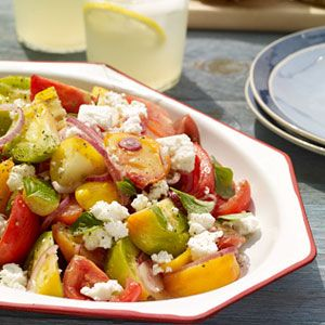 Heirloom-Tomato-Salad-with-Grilled-Garlic-Bread-Recipe