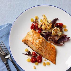 Roasted-Salmon-Tomatoes-and-Cauliflower-Recipe