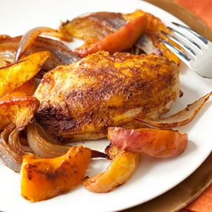Spiced Chicken Breasts Squash And Apples