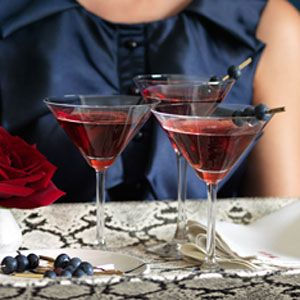 halloween drinks - Blueberry Pomegranate Martinis