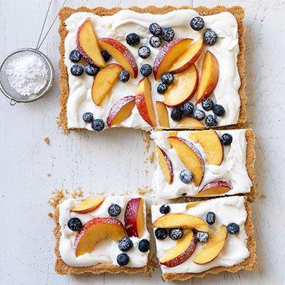 cream berry and nectarine tart