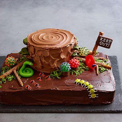 halloween desserts -chocolate haunted forest cake
