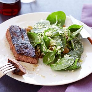 Spice-Rubbed-Steak-with-Spinach-Couscous-Recipe