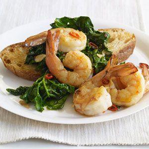 Garlicky-Shrimp-Spinach-Recipe