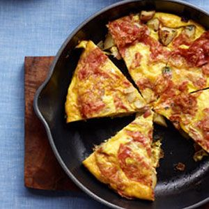 Spanish-Style-Tortilla-with-Salami-and-Potatoes-Recipe