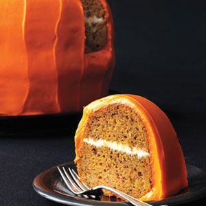 halloween desserts - Pumpkin Carrot Cake with Cream Cheese Frosting