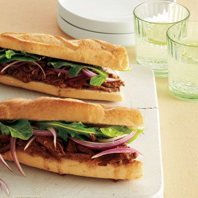 Lamb Sandwiches with Red Onion & Arugula