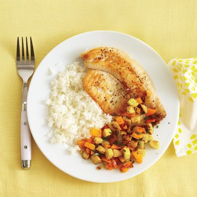 Seared Tilapia with Summer Squash Salad