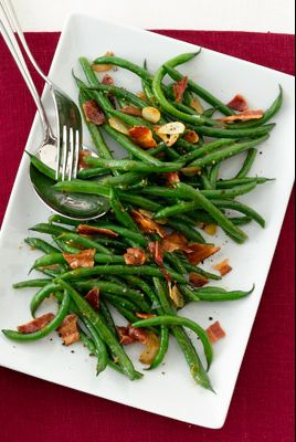 apricot glazed green beans