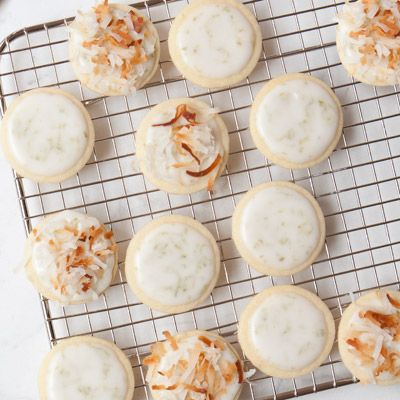 lime and coconut coins