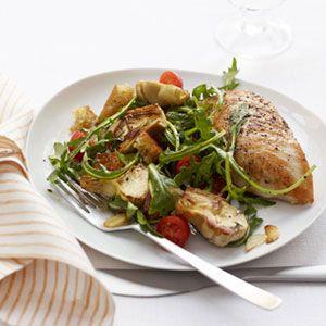 Seared-Chicken-with-Artichoke-Panzanella-Recipe-4