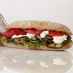 Grilled-Eggplant-Roasted-Red-Pepper-and-Ricotta-Sandwich-Recipe