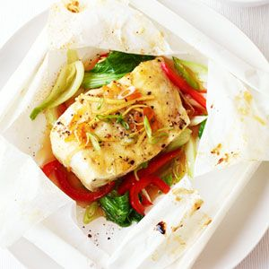 Orange and Ginger Halibut in Parchment
