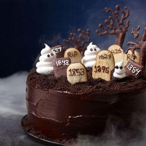 halloween desserts - graveyard cake