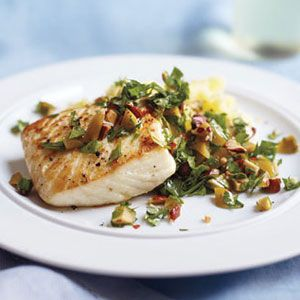 Seared-White-Fish-with-Olive-Relish-and-Lemon-Mashed-Potatoes-Recipe