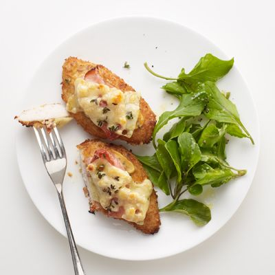 Chicken Cutlets with Ham and Swiss