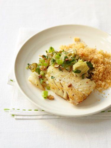Seared Fish with Artichoke Relish