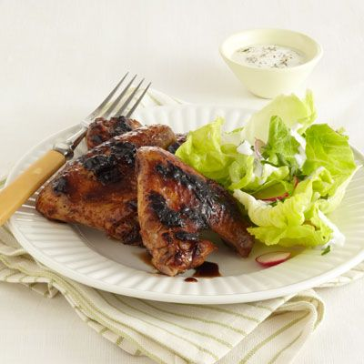 Peach and Balsamic Grilled Chicken Wings