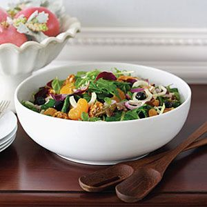 Salad-Greens-with-Fennel-Tangerine-and-Candied-Walnuts-Recipe
