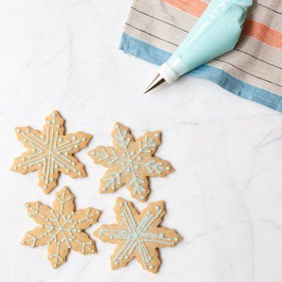 brown sugar ginger snowflakes