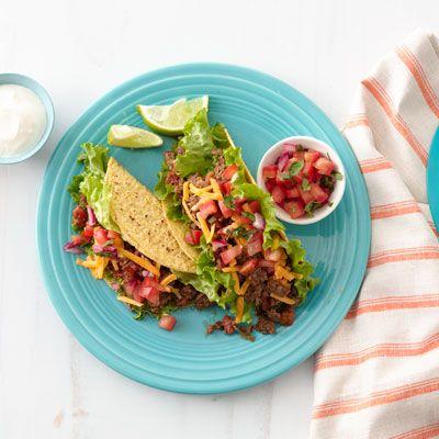 zesty beef tacos