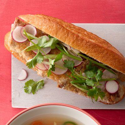 crispy pork sandwiches
