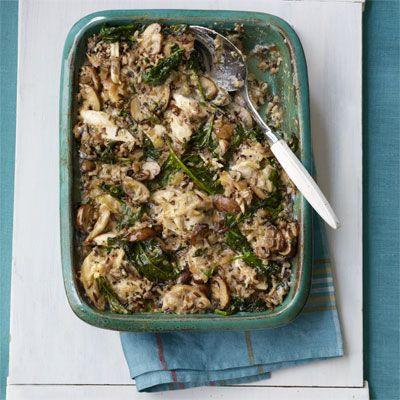Creamy Chicken, Mushroom and Wild Rice Casserole Recipe