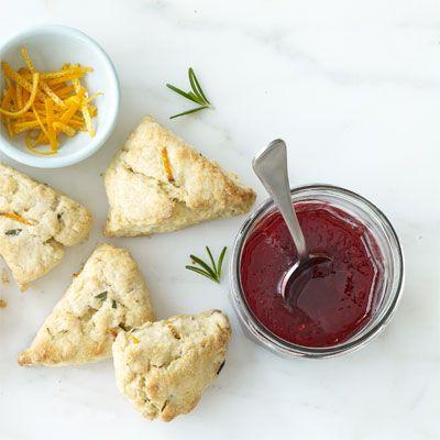 orange rosemary scones