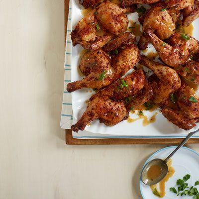 spice rubbed cornish hens