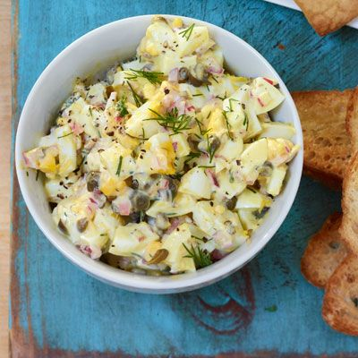 egg salad red onion capers lemon dill