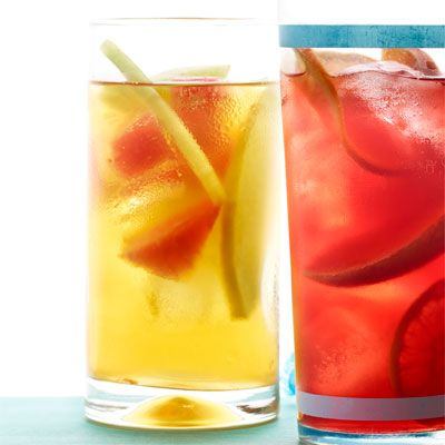 honeydew and watermelon iced tea