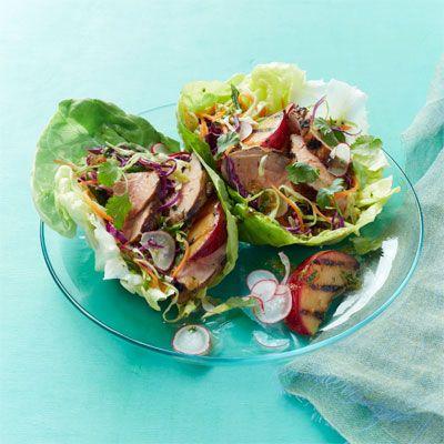 asian marinated pork salad