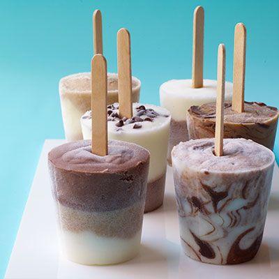 mini frozen yogurt pops