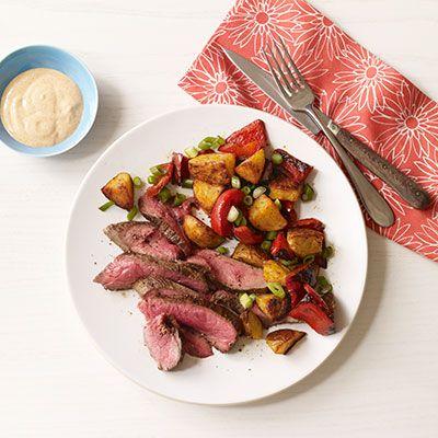 flank steak with smoky roasted potatoes