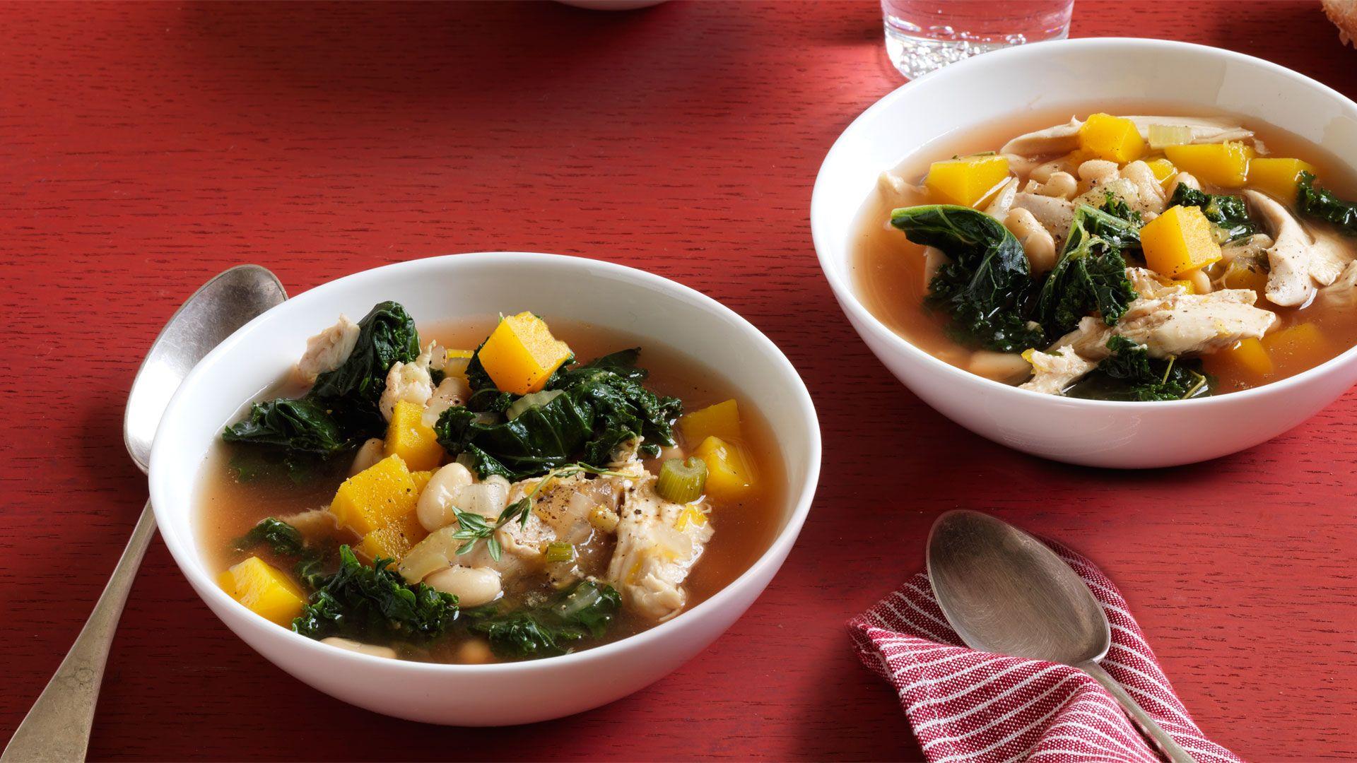 Kale, White Bean, and Butternut Squash Soup