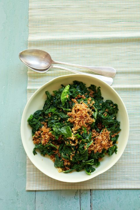 sauteed kale and garlicky bread crumbs