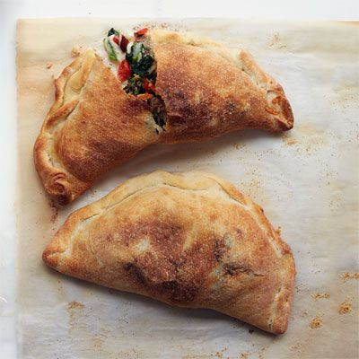 meatball calzones with broccoli and provolone