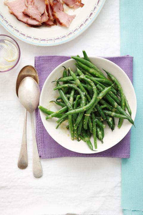 green beans with lemon vinaigrette