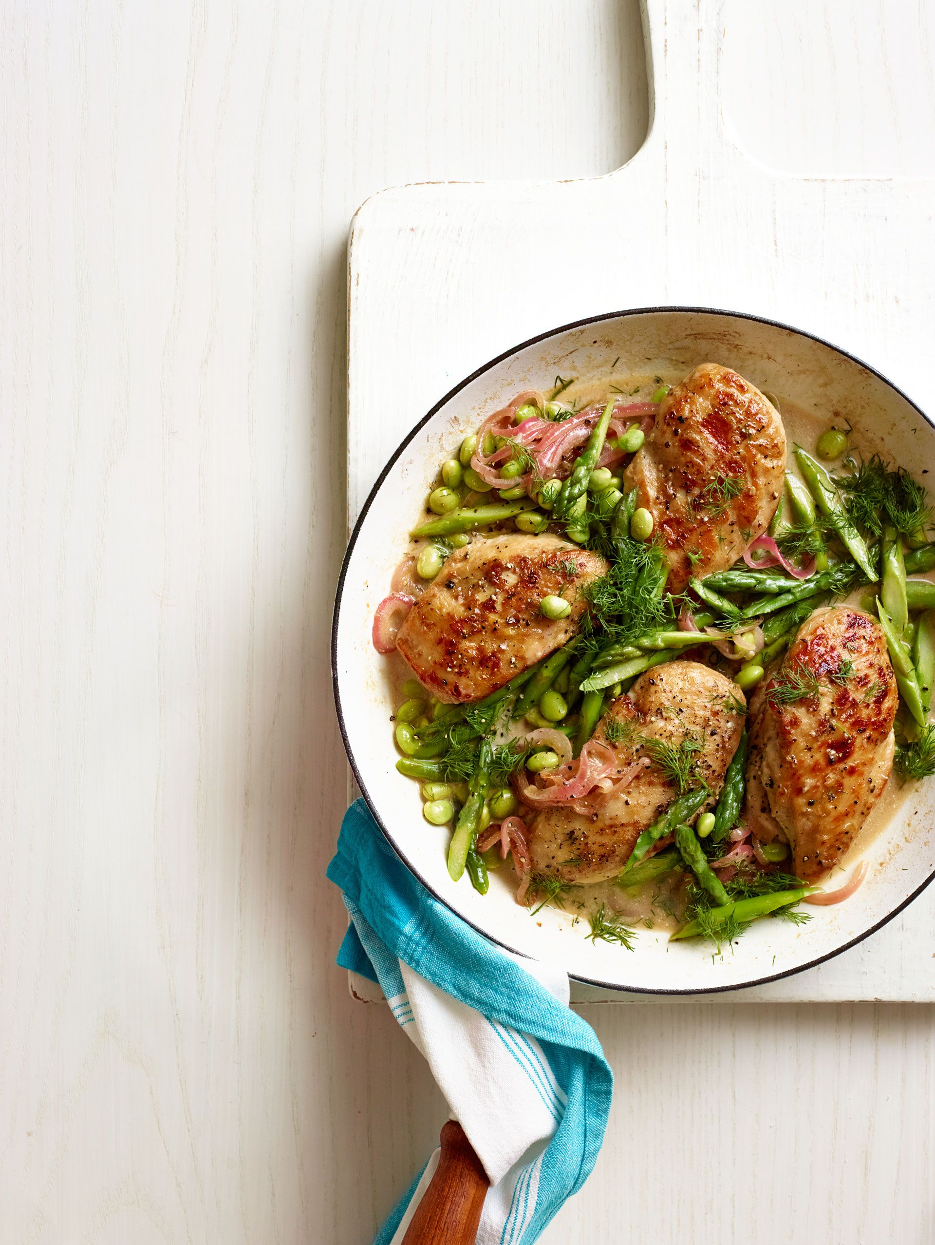 One-Pan Spring Chicken with Asparagus and Edamame