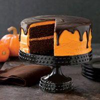 halloween desserts -chocolate pumpkin cake