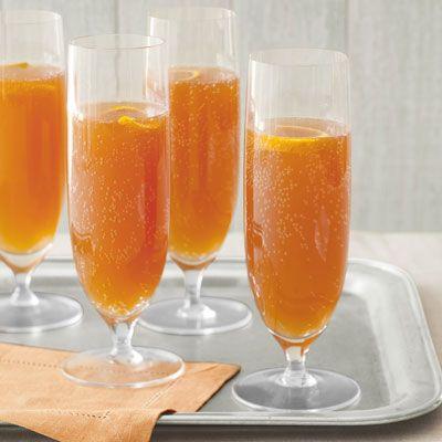 orange cherry champagne cocktails