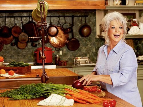 paula deen chopping vegetables