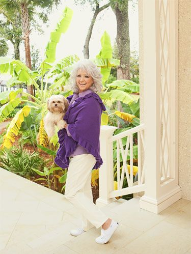 paula deen with a dog