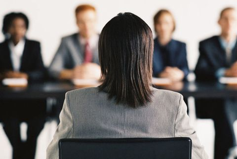 woman interviewing for job